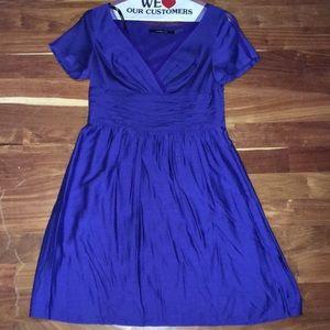 Andrew Marc purple raw silk dress size 10